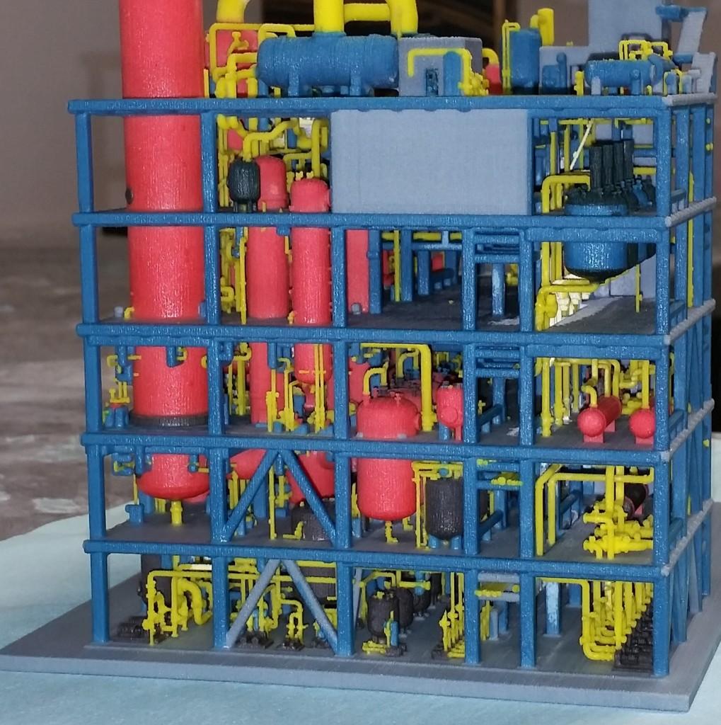 Maquette d'une usine de traitement de déchets