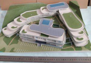 Projet d'hotel en impression 3D couleur