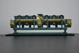 Maquette de machine industrielle en impression 3D couleur